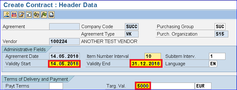 SAP CONTRACT