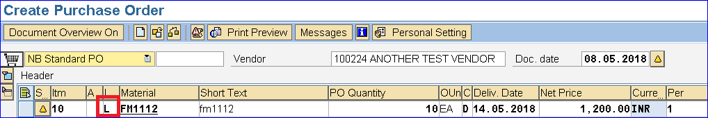 purchase order in sap